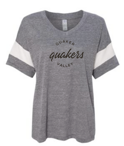 QUAKER VALLEY WOMEN'S ECO-JERSEY V-NECK GREY