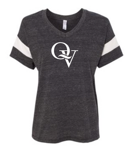 QUAKER VALLEY WOMEN'S ECO-JERSEY V-NECK BLACK