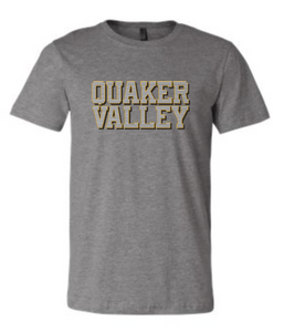 QUAKER VALLEY STRIPE DESIGN YOUTH & ADULT SHORT SLEEVE T-SHIRT