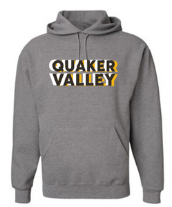QUAKER VALLEY TRI-COLORED YOUTH & ADULT HOODED SWEATSHIRT