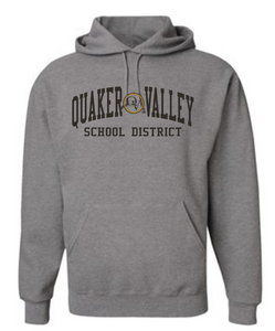 QUAKER VALLEY SCHOOL DISTRICT YOUTH & ADULT HOODED SWEATSHIRT