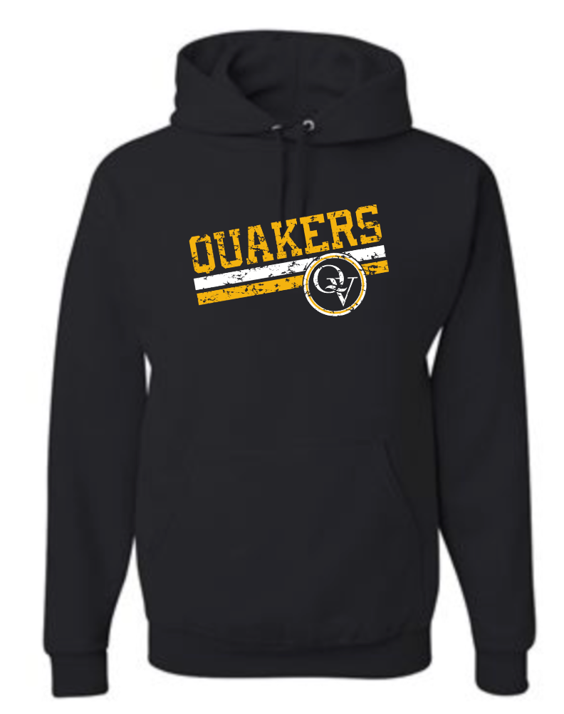 QUAKER VALLEY VINTAGE DESIGN YOUTH & ADULT HOODED SWEATSHIRT