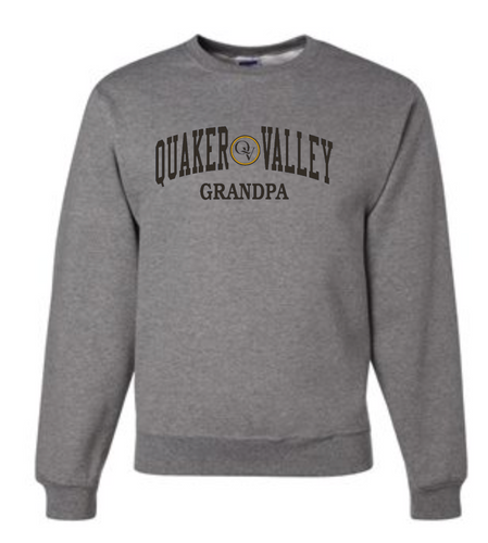 QUAKER VALLEY FAMILY GEAR ADULT CREW NECK SWEATSHIRT - GRANDPA