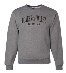 QUAKER VALLEY FAMILY GEAR ADULT CREW NECK SWEATSHIRT - GRANDMA