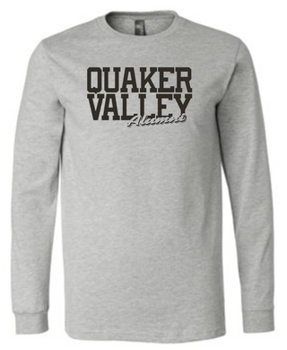 QUAKER VALLEY ALUMNI SCRIPT ADULT LONG SLEEVE TEE