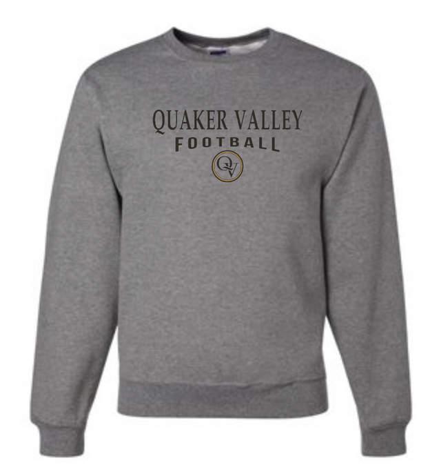 QUAKER VALLEY FOOTBALL 20/21 YOUTH & ADULT CREW NECK SWEATSHIRT - OXFORD GRAY