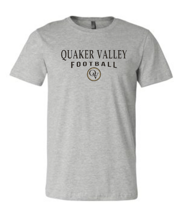QUAKER VALLEY FOOTBALL 20/21 YOUTH & ADULT SHORT SLEEVE T-SHIRT - ATHLETIC GRAY