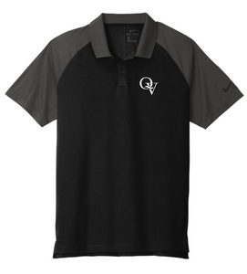 QUAKER VALLEY MEN'S EMBROIDERED NIKE DRY FIT RAGLAN POLO