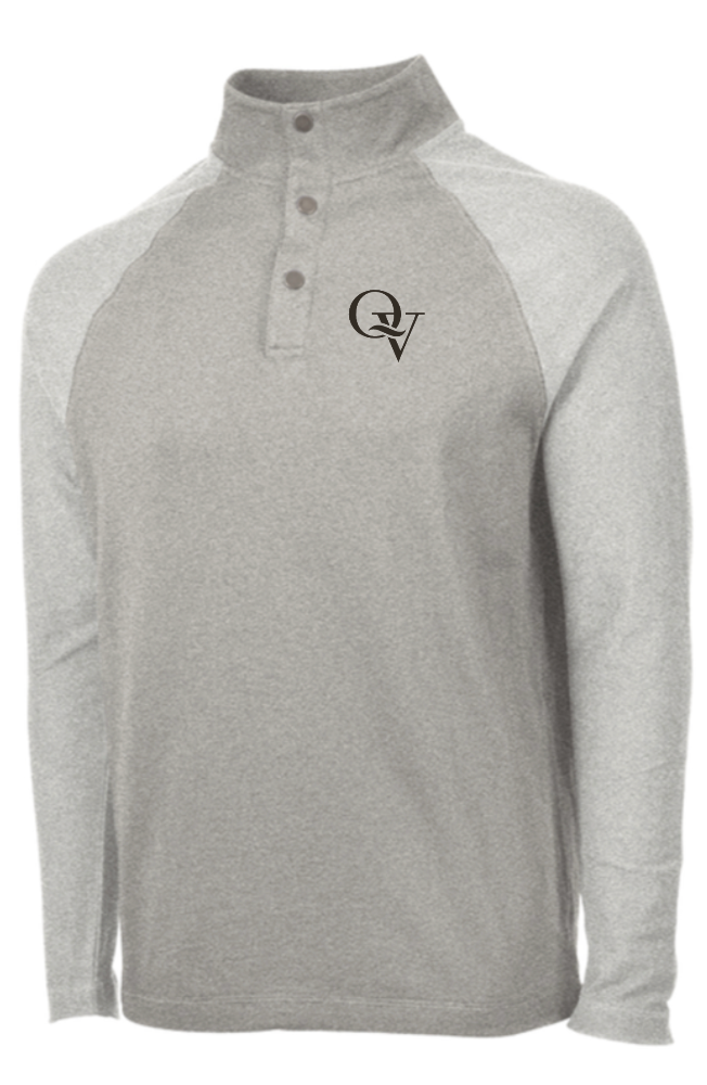 QUAKER VALLEY MEN'S EMBROIDERED TERRY KNIT PULLOVER