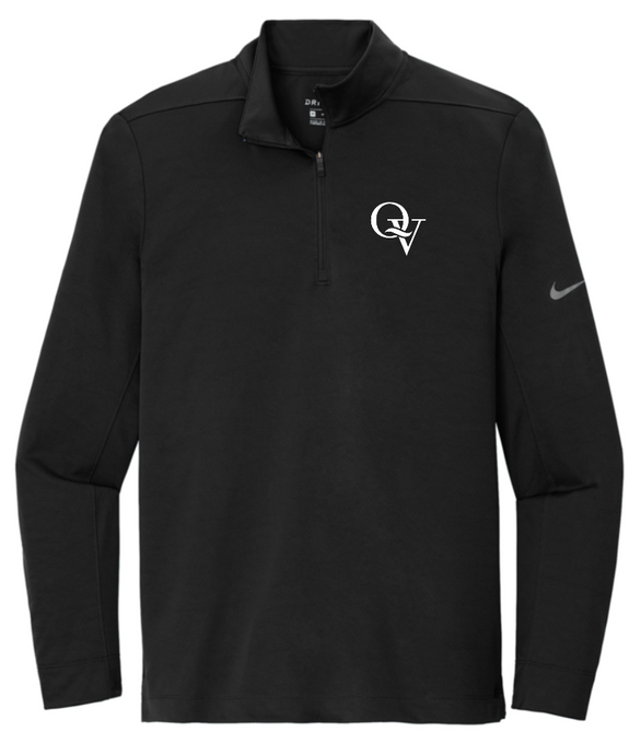 QUAKER VALLEY MEN'S EMBROIDERED NIKE DRY FIT 1/2 ZIP PULLOVER