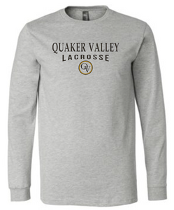 QUAKER VALLEY LACROSSE 20/21 YOUTH & ADULT LONG SLEEVE TEE -  ATHLETIC GREY