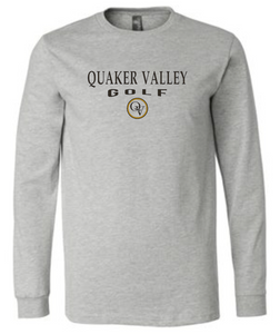 QUAKER VALLEY GOLF 20/21 YOUTH & ADULT LONG SLEEVE TEE -  ATHLETIC GREY