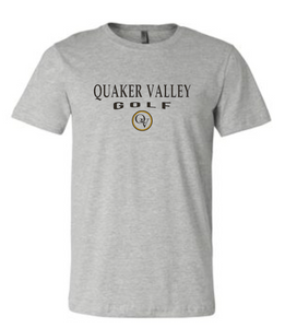 QUAKER VALLEY GOLF 20/21 YOUTH & ADULT SHORT SLEEVE T-SHIRT - ATHLETIC GRAY
