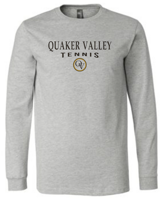 QUAKER VALLEY TENNIS 20/21 YOUTH & ADULT LONG SLEEVE TEE -  ATHLETIC GREY