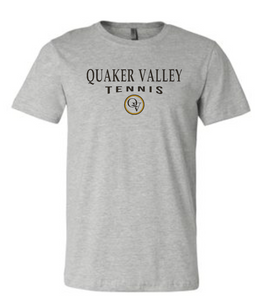 QUAKER VALLEY TENNIS 20/21 YOUTH & ADULT SHORT SLEEVE T-SHIRT - ATHLETIC GRAY
