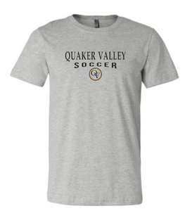 QUAKER VALLEY SOCCER 20/21 YOUTH & ADULT SHORT SLEEVE T-SHIRT - ATHLETIC GRAY