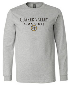 QUAKER VALLEY SOCCER 20/21 YOUTH & ADULT LONG SLEEVE TEE -  ATHLETIC GREY