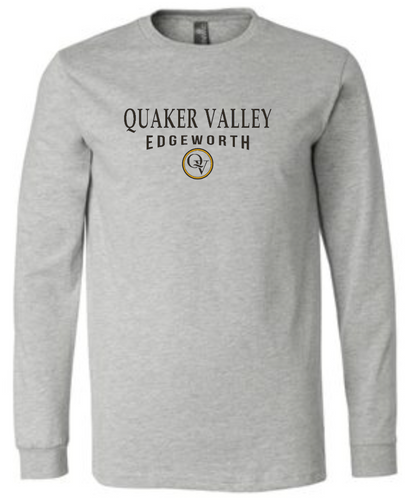 QUAKER VALLEY EDGEWORTH 20/21 YOUTH & ADULT LONG SLEEVE TEE -  ATHLETIC GREY