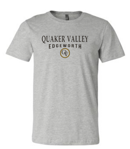QUAKER VALLEY EDGEWORTH 20/21 YOUTH & ADULT SHORT SLEEVE T-SHIRT - ATHLETIC GRAY
