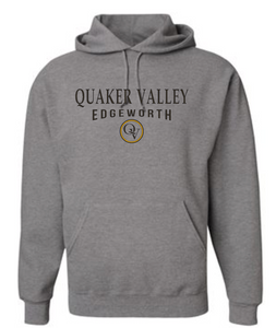 QUAKER VALLEY EDGEWORTH 20/21 YOUTH & ADULT HOODED SWEATSHIRT - OXFORD GRAY
