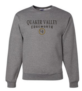 QUAKER VALLEY EDGEWORTH 20/21 YOUTH & ADULT CREW NECK SWEATSHIRT - OXFORD GRAY
