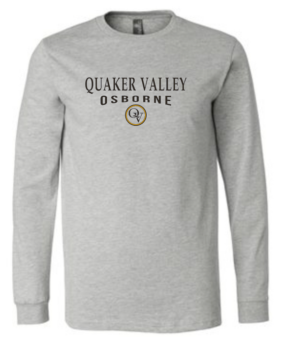 QUAKER VALLEY OSBORNE 20/21 YOUTH & ADULT LONG SLEEVE TEE -  ATHLETIC GREY