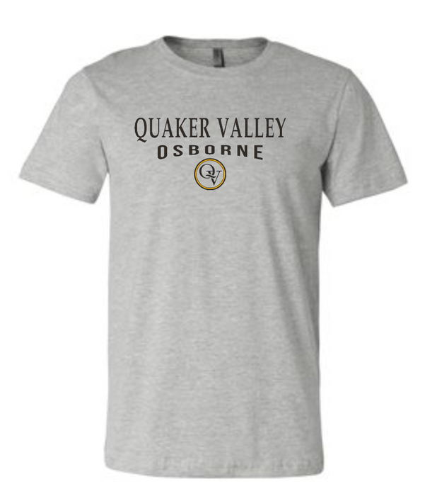 QUAKER VALLEY OSBORNE 20/21 YOUTH & ADULT SHORT SLEEVE T-SHIRT - ATHLETIC GRAY