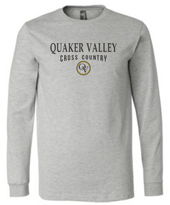 QUAKER VALLEY CROSS COUNTRY 20/21 YOUTH & ADULT LONG SLEEVE TEE -  ATHLETIC GREY
