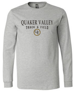QUAKER VALLEY TRACK & FIELD 20/21 YOUTH & ADULT LONG SLEEVE TEE -  ATHLETIC GREY