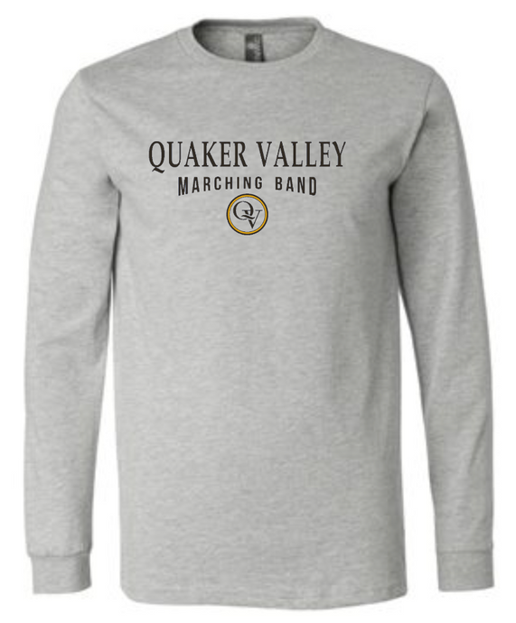 QUAKER VALLEY MARCHING BAND 20/21 YOUTH & ADULT LONG SLEEVE TEE -  ATHLETIC GREY