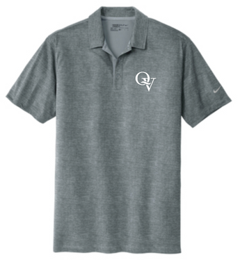 QUAKER VALLEY MEN'S EMBROIDERED NIKE DRY FIT CROSSHATCH POLO