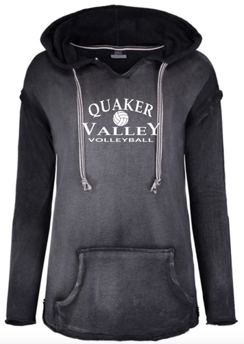 QUAKER VALLEY VOLLEYBALL LADIES FRENCH TERRY HOODED SWEATSHIRT