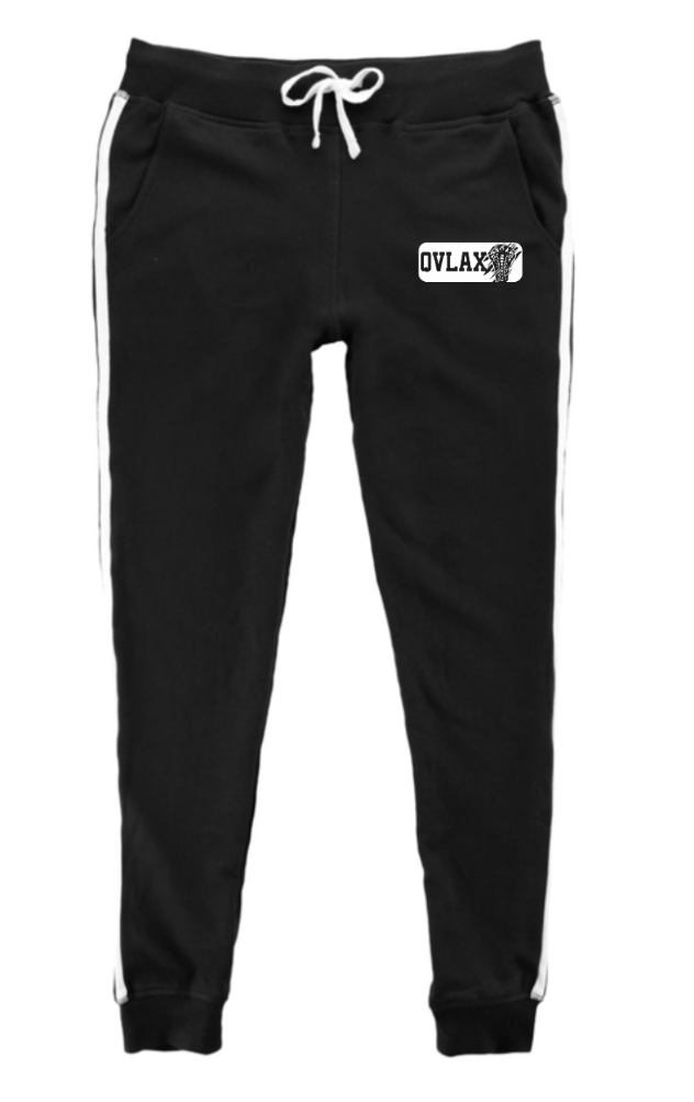 QVMS GIRLS LACROSSE -OFFICIAL 2021 FUNDRAISER ITEM - WOMEN'S STRIPED STADIUM JOGGERS