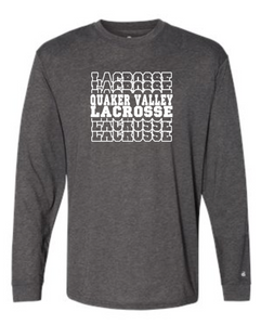 QVMS GIRLS LACROSSE OFFICIAL 2021 FUNDRAISER ITEM - YOUTH & ADULT TRI-BLEND LONGSLEEVE