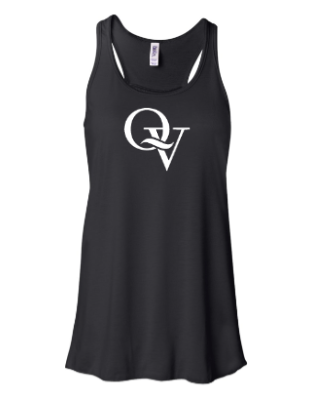 QUAKER VALLEY  *GLITTER DESIGN* GIRL'S &  WOMEN'S FLOWY RACERBACK TANK