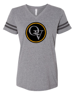 QUAKER VALLEY  GIRL'S &  WOMEN'S STRIPE SLEEVE FINE JERSEY TEE