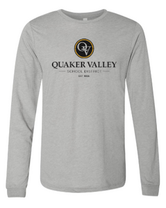 QUAKER VALLEY YOUTH & ADULT LONG SLEEVE TRI-BLEND TSHIRT - GREY
