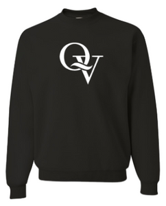 QUAKER VALLEY YOUTH & ADULT CREW NECK SWEATSHIRT - BLACK