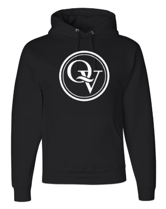 QUAKER VALLEY YOUTH & ADULT HOODED SWEATSHIRT - BLACK