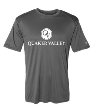 QUAKER VALLEY YOUTH & ADULT PERFORMANCE SHORT SLEEVE T-SHIRT - GRAPHITE