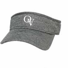 Load image into Gallery viewer, QUAKER VALLEY LEGACY BRAND COOL-FIT ADJUSTABLE VISOR - HEATHER GREY OR BLACK