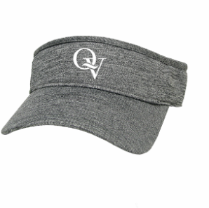 QUAKER VALLEY LEGACY BRAND COOL-FIT ADJUSTABLE VISOR - HEATHER GREY OR BLACK