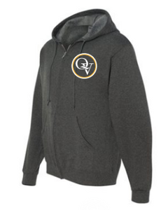 QUAKER VALLEY  TODDLER, YOUTH & ADULT FULL ZIP HOODED SWEATSHIRT