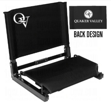 QUAKER VALLEY FOLDING STADIUM CHAIR