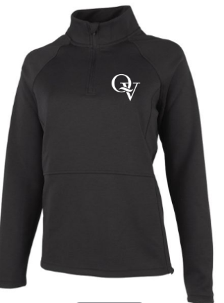 QUAKER VALLEY WOMEN'S EMBROIDERED QUARTER ZIP