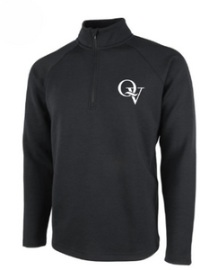 QUAKER VALLEY MEN'S EMBROIDERED QUARTER ZIP