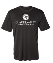 Load image into Gallery viewer, QUAKER VALLEY FOOTBALL YOUTH & ADULT PERFORMANCE SOFTLOCK SHORT SLEEVE TEE - BLACK OR GRAPHITE