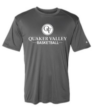 Load image into Gallery viewer, QUAKER VALLEY BASKETBALL YOUTH & ADULT PERFORMANCE SOFTLOCK SHORT SLEEVE TEE - BLACK OR GRAPHITE