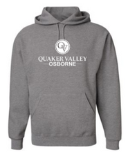 Load image into Gallery viewer, OSBORNE YOUTH & ADULT HOODED SWEATSHIRT - BLACK OR OXFORD GRAY