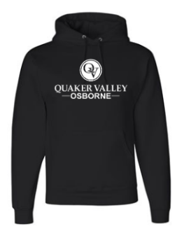 OSBORNE YOUTH & ADULT HOODED SWEATSHIRT - BLACK OR OXFORD GRAY